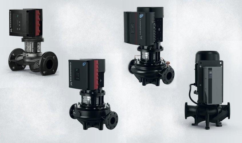 Расширение продуктового ряда одноступенчатых насосов «ин-лайн» серии ТРЕ производства Grundfos