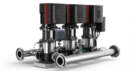 Купить насосные установки повышения давления Grundfos Hydro Multi-E в компании Аврора