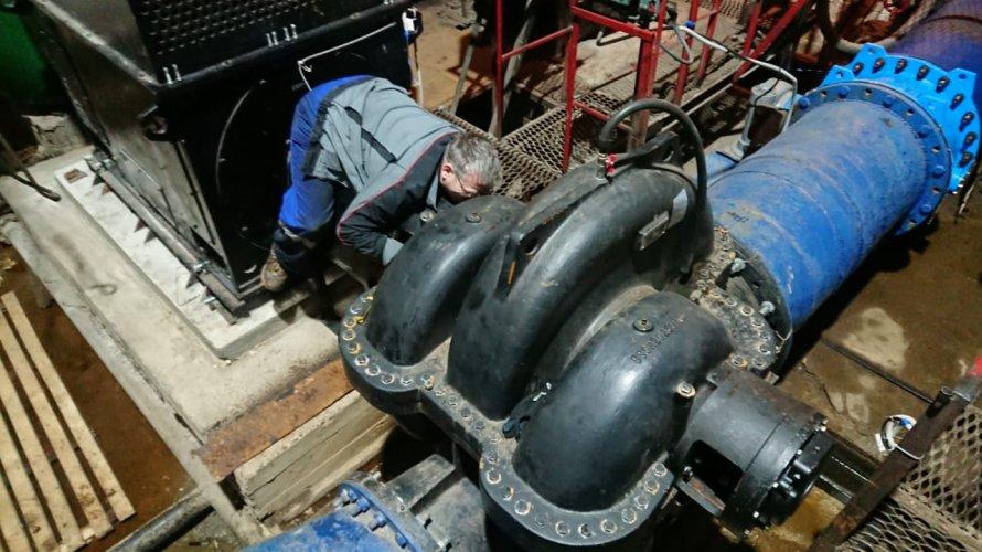 Техническое обслуживание насосов Grundfos на станции водозабора Сясьского ЦБК