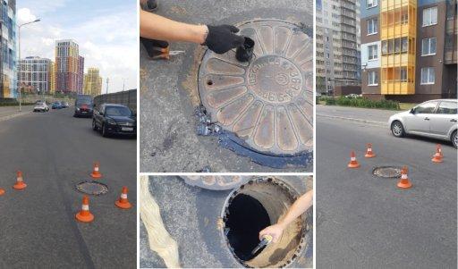 Герметизация запирающих крышек люков канализационных колодцев в Кудрово