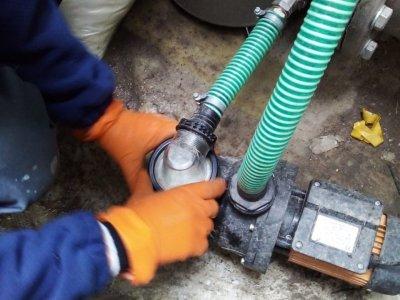 Подключение оборудования для промывки камер прибора ультрафиолетового обеззараживания