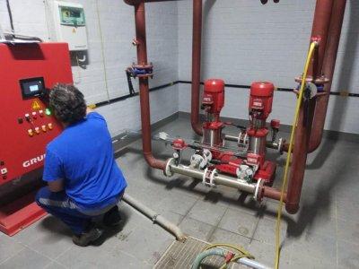Комплектные насосные установки пожаротушения Grundfos Hydro MX